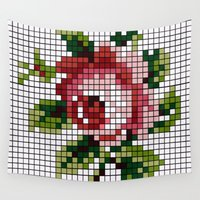 shabby chic Wall Tapestries featuring Shabby Chic Rose by Alisa Galitsyna