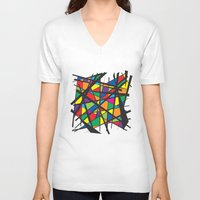 stained glass V-neck T-shirts featuring Stained Glass by preview