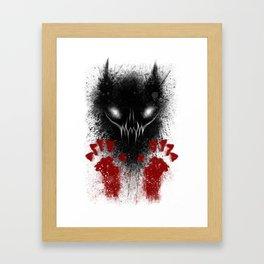 Bloody Hands Framed Art Print
