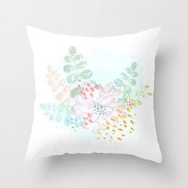 Paint splatter flower Throw Pillow