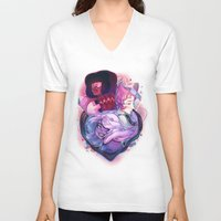 gem V-neck T-shirts featuring Gem Guardians by asieybarbie