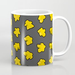Yellow Game Meeples Coffee Mug