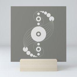 dna aliens, sacred geometry Mini Art Print