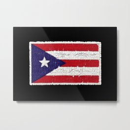 Puerto Rican flag with distressed textures Metal Print