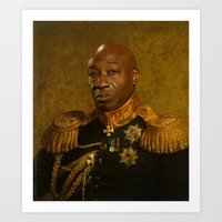 replaceface Art Prints featuring Michael Clarke Duncan - replaceface by replaceface