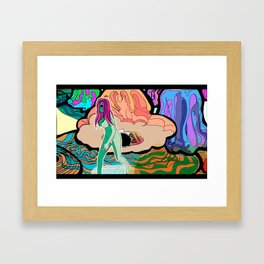 When I Gave Birth to a Blob Framed Art Print