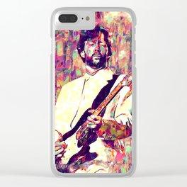Eric Clapton Vintage Art Clear iPhone Case