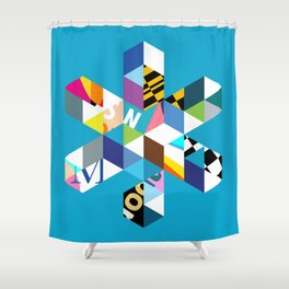 Collage Snowflake Shower Curtain