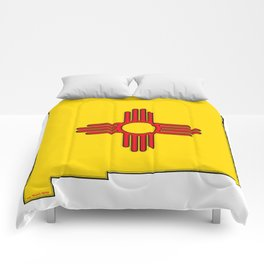 New Mexico Map with State Flag Comforters