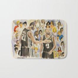 Tim Duncan & Tony Parker_Pro basketball players Bath Mat