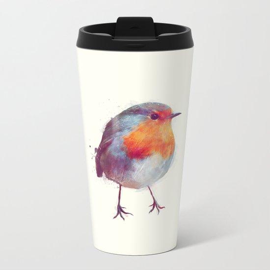 Winter Robin Metal Travel Mug