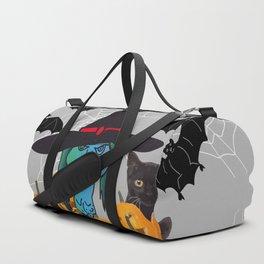 Witch bats pumpkin Halloween Duffle Bag