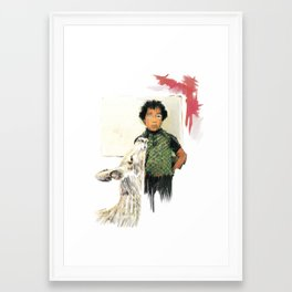A BOY IN THE WILD Framed Art Print