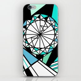 Sapphire - blue diamond iPhone Skin