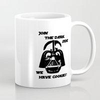 darth vader Mugs featuring Darth Vader  by WTF-Arts