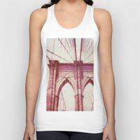 brooklyn bridge Tank Tops featuring Brooklyn Bridge by Jon Damaschke