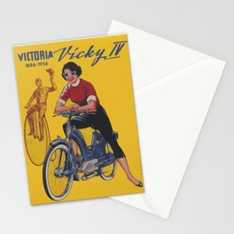Vintage Motorcycle Poster Stationery Cards