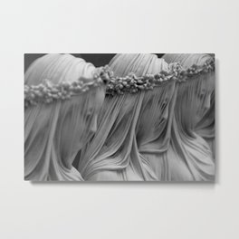 The Veiled Vestal Virgins marble sculpture by Raffaelo Mont black and white photograph Metal Print