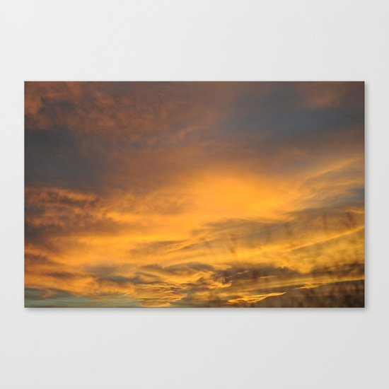 COME AWAY WITH ME - Autumn Sunset #2 #art #society6 Canvas Print