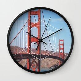 Golden Gate Bridge - Geometric Photography Wall Clock