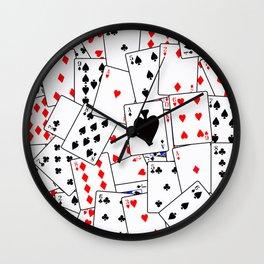 Random Playing Card Background Wall Clock