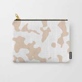 Large Spots - White and Pastel Brown Carry-All Pouch