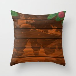 Christmas background Throw Pillow
