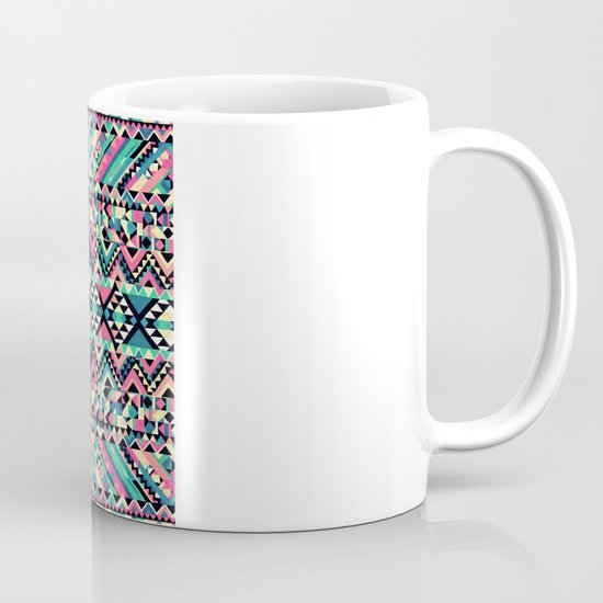 Pink Turquoise Girly Aztec Andes Tribal Pattern Mug