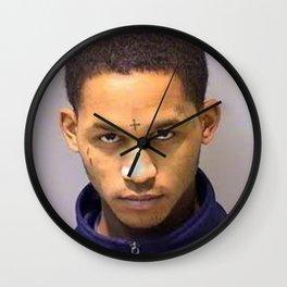 fredo Santana mugshot Wall Clock