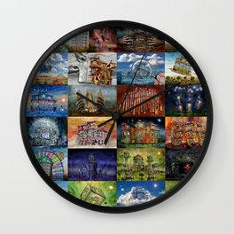 Super Collage - House Wall Clock