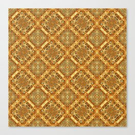 Luxury Check Ornate Pattern Canvas Print