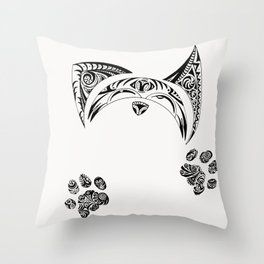 Kitty Kat Throw Pillow
