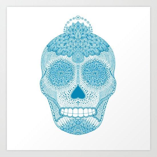 Cosmic Blue Art Print