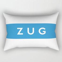 Zug region switzerland country flag name text swiss Rectangular Pillow