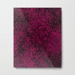 Raspberry Crumble Metal Print