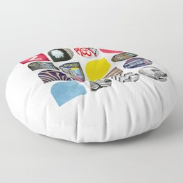 Cold Comfort Collage — The Streets Floor Pillow