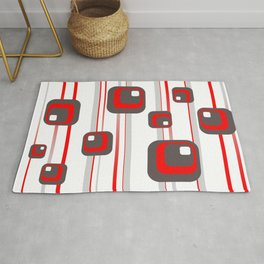 Vintage Retro Graphic white Rug