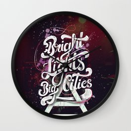 Bright Lights | 30 Seconds To Mars Wall Clock