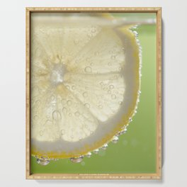 Bubbly Lemon - Lime Green Serving Tray