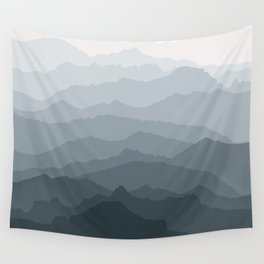 Silver Dew Mountains Wall Tapestry