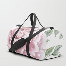 Beautiful Pink Roses Garden Duffle Bag