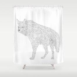 Geometric Hyena Shower Curtain