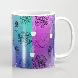 Dual tone succulents seamless pattern Coffee Mug