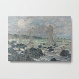 Fishing Nets at Pourville Metal Print