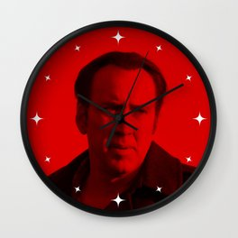 Nicolas Cage - Celebrity (Photographic Art) Wall Clock