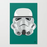 storm trooper Canvas Prints featuring Storm Trooper by Inza Vita