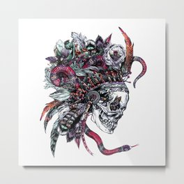 Death God Itzamna Metal Print