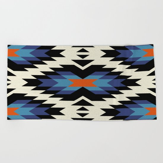 Tribal pattern Beach Towel