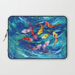 Koi fish rainbow abstract paintings Laptop Sleeve