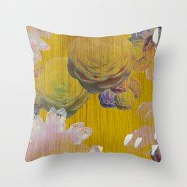 Crystal Camellia  Throw Pillow